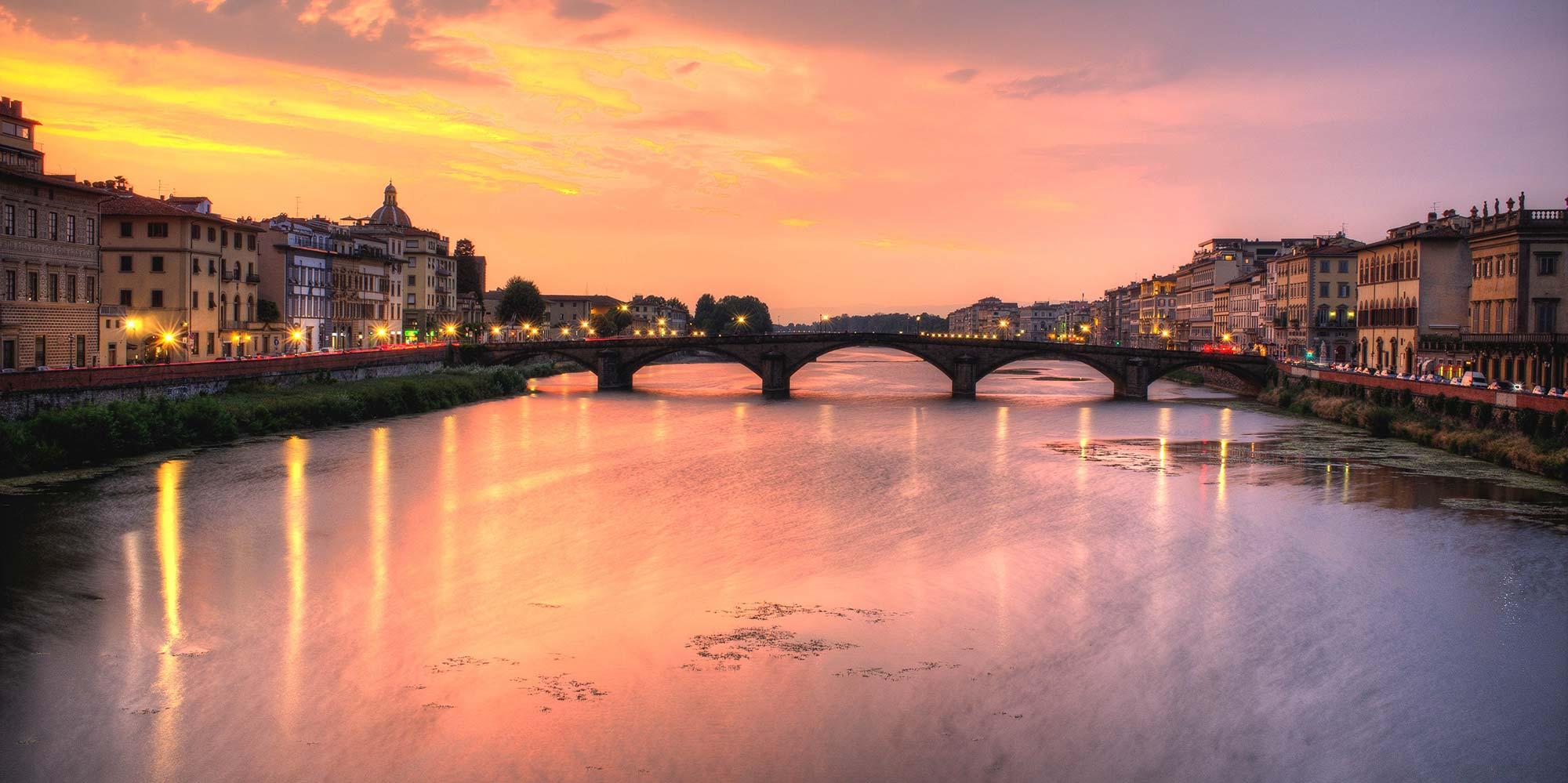 firenze-tramonto-ponte-fiume-arno